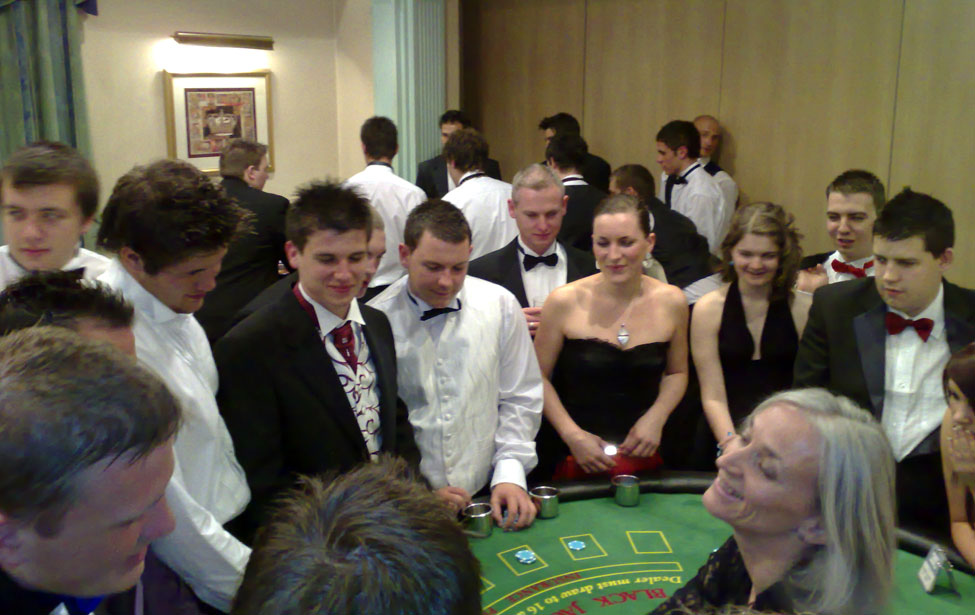 Graduation Casino Ball in the Prince of Wales Suite at The Angel Cardiff